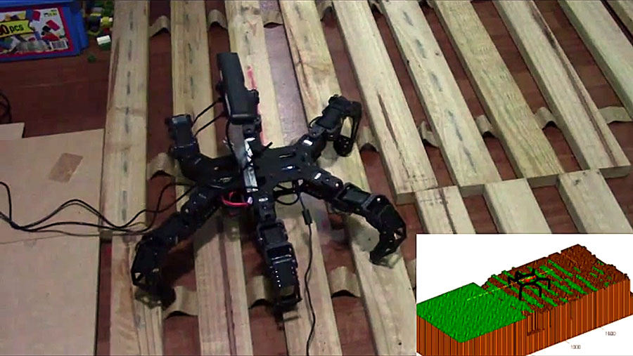 hexapod navigation through environment