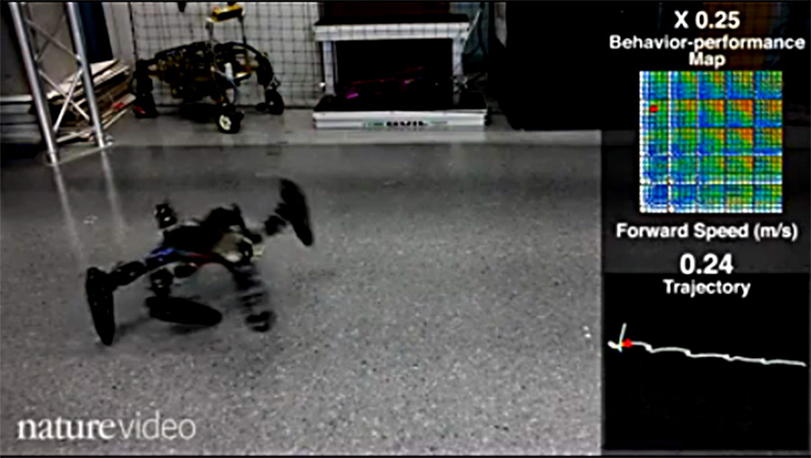robot learns new gaits